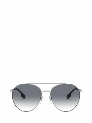 Burberry Eyewear Round Aviator Frame Sunglasses