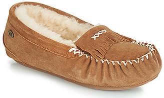 Just Sheepskin HAMPSTEAD women's Flip flops in Brown