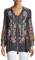 Johnny Was Nikolita Embroidered Blouse , Petite
