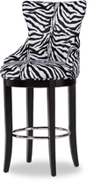 Baxton Studio Zebra Upholstered Barstool