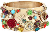 Betsey Johnson Lucky Charms Statement Hinged Bangle