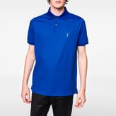 Paul Smith Men's Blue Embroidered 'Gufram Cactus' Polo Shirt