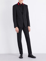 Givenchy Red-detailed slim-fit stretch-wool suit