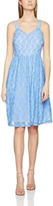 Yumi Women's Strap Lace Dress, (Sky Blue)