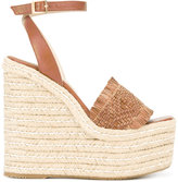 Paloma Barceló braided straw platform sandals - women - Leather/Straw/rubber - 39