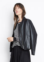 Vince Leather Drop Shoulder Bomber