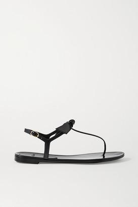Alexandre Birman Clarita Bow-embellished Rubber Sandals - Black