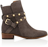 See by Chloe WOMEN'S STUDDED-STRAP SUEDE ANKLE BOOTS