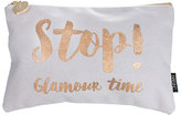 Nails Inc Stop! Glamour Time Slogan Cosmetic Bag