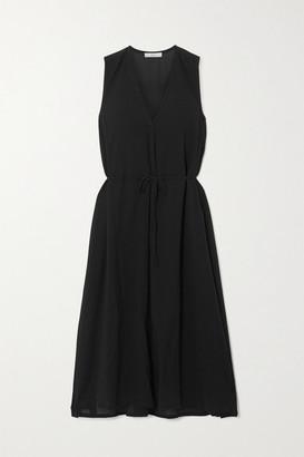 Vince Cotton-voile Midi Dress - Black