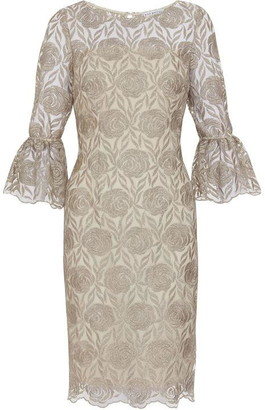 Gina Bacconi Theora Embroidery Dress