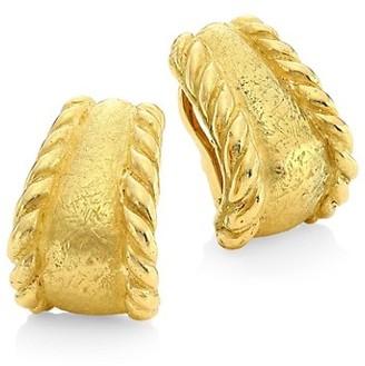 Katy Briscoe Sparks 18K Yellow Gold Hoop Clip-On Earrings