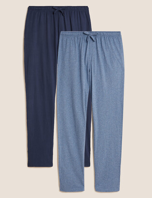 Marks and Spencer 2 Pack Pure Cotton Jersey Pyjama Bottoms
