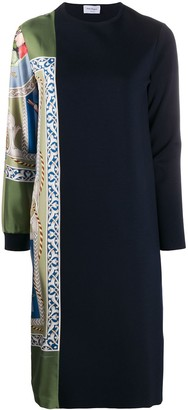 Salvatore Ferragamo Panelled Shift Dress