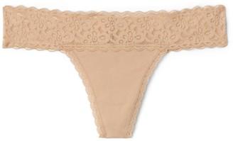 Gap Stretch Cotton & Lace Thong