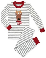 Sara's Prints Unisex Reindeer Striped Pajama Set - Sizes 2-7