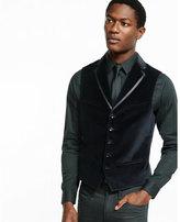 Express black velvet vest