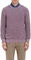 Drumohr Men's Cashmere Crewneck Sweater-PURPLE