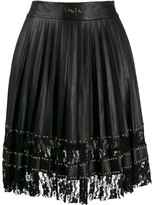 Philipp Plein pleated lace skirt
