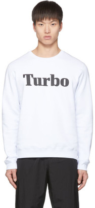 MSGM White Turbo Sweatshirt