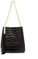 Giuseppe Zanotti Croc-Embossed Leather Bucket Bag