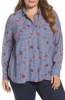 Lucky Brand Floral Print Button Down Shirt