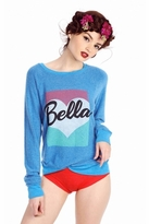 Wildfox Couture Bella Pop Baggy Beach Raglan in Cobalt Sea