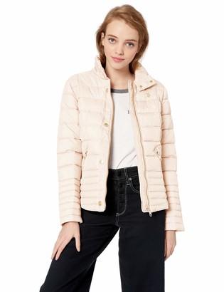 U.S. Polo Assn. Women's Plus Size Moto Puffer Jacket