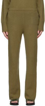 Joseph Khaki Soft Wool Knit Trousers