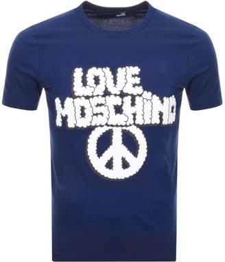 Moschino Love Logo T Shirt Blue