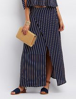 Charlotte Russe Striped Maxi Wrap Skirt