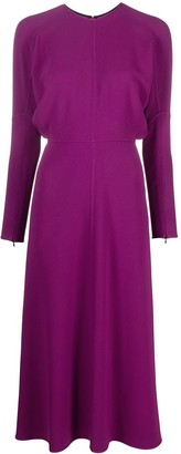 Victoria Beckham Drop-Soulder Long-Sleeve Dress