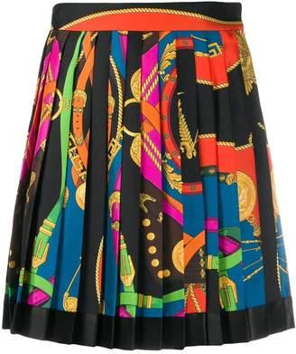 Versace multicolored pleated mini skirt