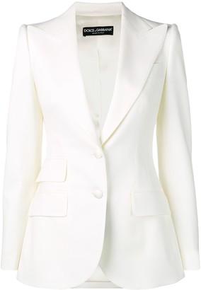 Dolce & Gabbana Fitted Wool-Blend Blazer