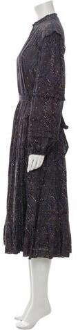 Thumbnail for your product : Ulla Johnson Printed Long Dress Black