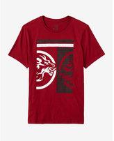 Express inverse lion graphic t-shirt