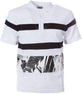 Les Hommes Printed Polo Shirt