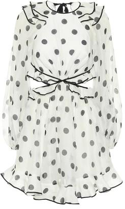 Zimmermann Lovestruck polka-dot linen-blend minidress
