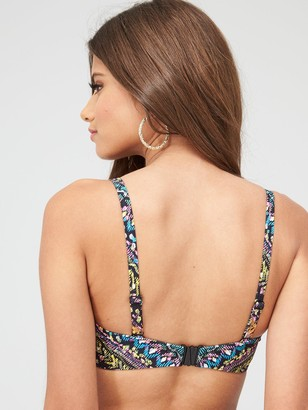 Figleaves Underwired Bandeau Strapless Bikini Top - Multi