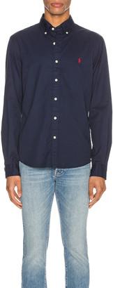 Polo Ralph Lauren GD Chino Long Sleeve Button Up Shirt in Cruise Navy | FWRD