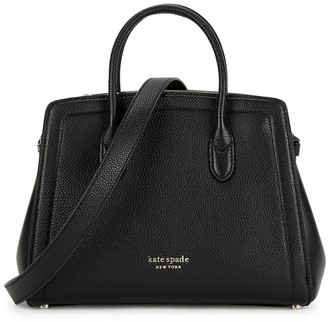 Kate Spade Knott Medium Black Leather Top Handle Bag