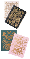 Rifle Paper Co. New Rorschach Notebook Set & Golk Foil Pocket Notebooks (4 PC)