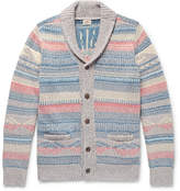 Faherty Sun & Wave Slim-Fit Shawl-Collar Cotton-Blend Cardigan