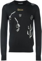 Dolce & Gabbana Western patch jumper