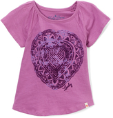 Lucky Brand Iris Orchid Lace Heart Tee - Toddler