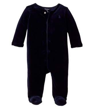 Ralph Lauren Baby Velour Footed Coverall (Infant)