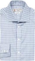 Turnbull & Asser Turnbull & Asser Diamond Pattern Slim-fit Cotton Shirt