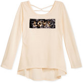Beautees Two-Tone Reversible Sequin Top, Big Girls (7-16)
