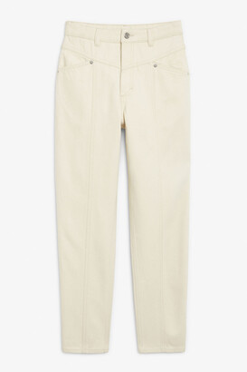 Monki Front seam jeans