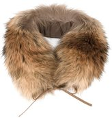 Woolrich racoon fur ring scarf